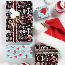 Santa Coming To Town Reversible Roll Wrap 7039