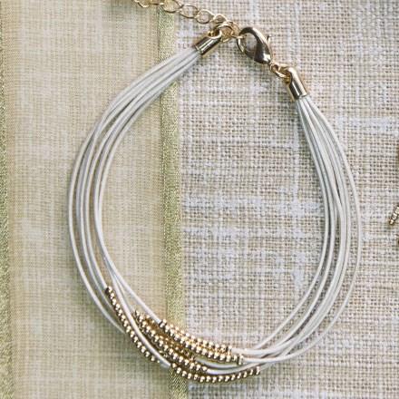 Leather Cord & Bead Bracelet 2634