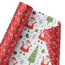 Silly Santa Reversible Wrap 1381