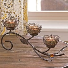 Rustic Candle Holder 2521