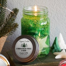 Christmas Tree Farm Mason Jar Gel Candle 9404