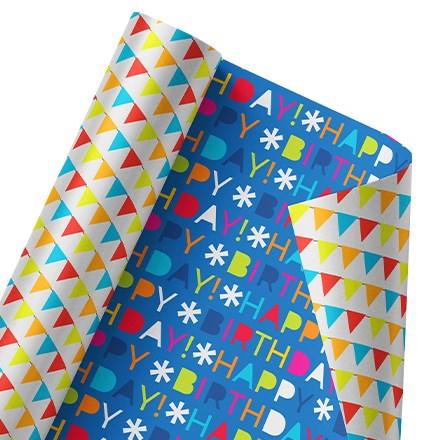 Happy Happy Day Reversible Wrap 1480