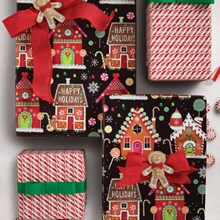 Gingerbread House Reversible Roll Wrap 6940