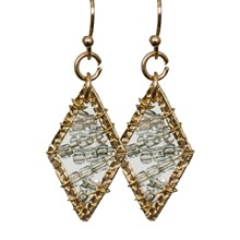Mixed Metals Dangle Earrings 2671