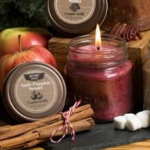 Apple Pumpkin Strudel Mason Jar Candle 9390