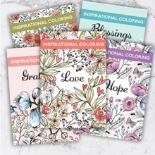Inspirational Coloring Books S/5 2244