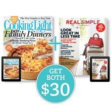 Cooking Light + Real Simple (Best Buy) NBSK5