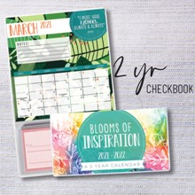 Blooms of Inspiration 2-Year Checkbook Planner 9516