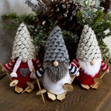 Santa Gnome Ornaments S/3 3134