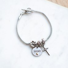 Loved Cross Charm Bracelet 2852