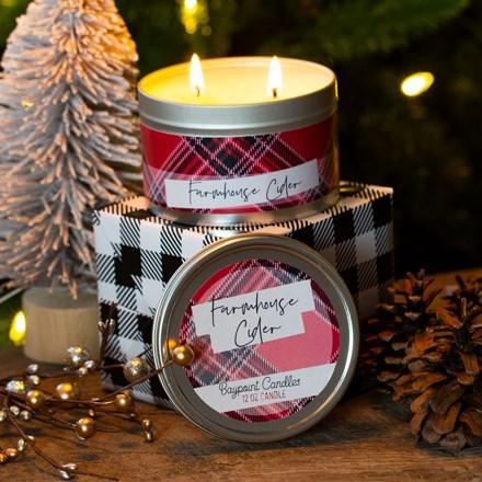 Farmhouse Cider Tin Candle 5501