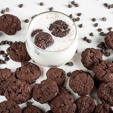 Double Chocolate Chip Mini Pre-Baked Cookies 4412