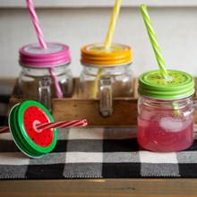 Fun & Fruity Mason Jar Set S/4 7219