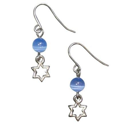 Star of David Earrings 3655