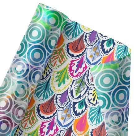 Fantastic Feathers Reversible Wrap 1478