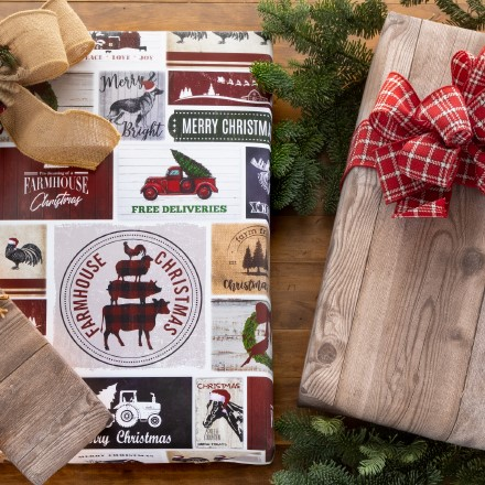 Farmhouse Christmas Reversible Wrap 1601