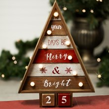 Rustic Light-Up Christmas Countdown 3144