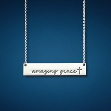 Amazing Grace Bar Necklace 5873