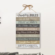 Family Rules Wall Plaque 7171