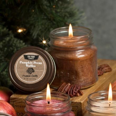 Pumpkin Pecan Waffles Mason Jar Candle 9403