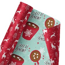 Let it Snow Reversible Wrap 1413