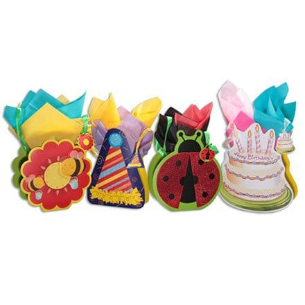 3D Die Cut All Occasion Gift Bags - S/4 1684
