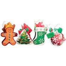 3D Die-Cut Holiday Gift Bags S/4 1651
