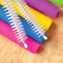Bendable/Reuseable Straws w/ 2 Brushes 8216
