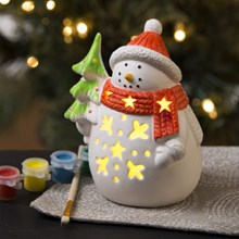 Paint Your Own Light-Up Snowman 3381