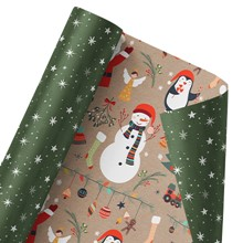 Here Comes Santa Claus Reversible Wrap 1447
