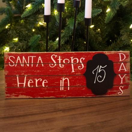 Santa Stops Here Sign 3124