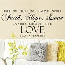Faith, Hope & Love Wall Cling 2824