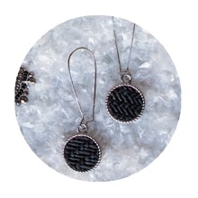 Textured Disc Earrings 2705