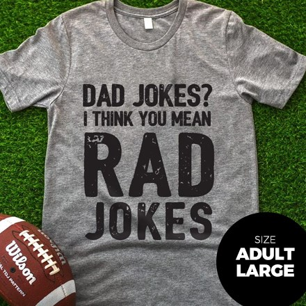 Dad Jokes T-Shirt - Adult Large 3045